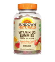 Sundown Naturals Vitamin D3 2000 IU Gummies, 90 ea [030768534912]