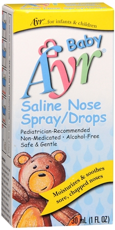Ayr Baby Saline Nose Spray/Drops 30 mL [302250550503]