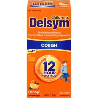 Delsym Children's Cough Suppressant Liquid, Orange Flavor, 5 oz [363824276656]