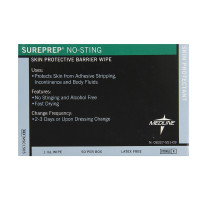 Medline Wipe Protectant Skin Sureprep No-sting, 50 ea [080196770055]