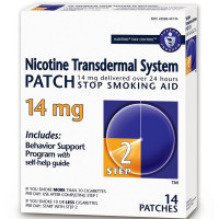 Habitrol Nicotine Transdermal System Stop Smoking Aid Patch, Step 2, 14 mg 14 ea [848985001502]