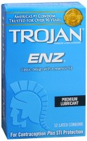 TROJAN Enz Lubricated Latex Condoms 12 Each [022600937524]