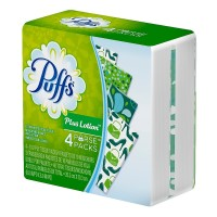Puffs Plus Lotion To-Go Facial Tissues 4 ea [037000871262]