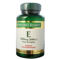 Nature's Bounty Vitamin E 1000 IU Softgels Pure DL-Alpha 60 Soft Gels [074312017995]