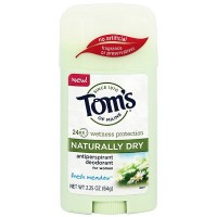 Tom's of Maine Naturally Dry Antiperspirant Deodorant for Women, Fresh Meadow 2.25 oz [077326834114]