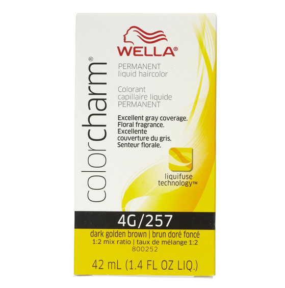 Wella Color Charm Liquid Haircolor 4g257 Dark Golden Brown 14 Oz  Pharmap