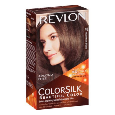 Revlon ColorSilk Hair Color 40 Medium Ash Brown 1 Each [309978695400]