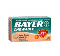 Bayer Chewable Low Dose 'Baby' Aspirin, 81 mg Tablets, Orange 36 ea [312843131057]