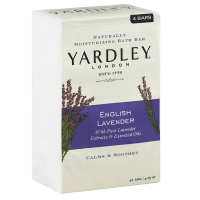 Yardley London Moisturizing Bars English Lavender With Essential Oils 4 ea [041840873706]