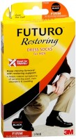 FUTURO Restoring Dress Socks For Men Firm Medium Black 1 Pair [382250056137]