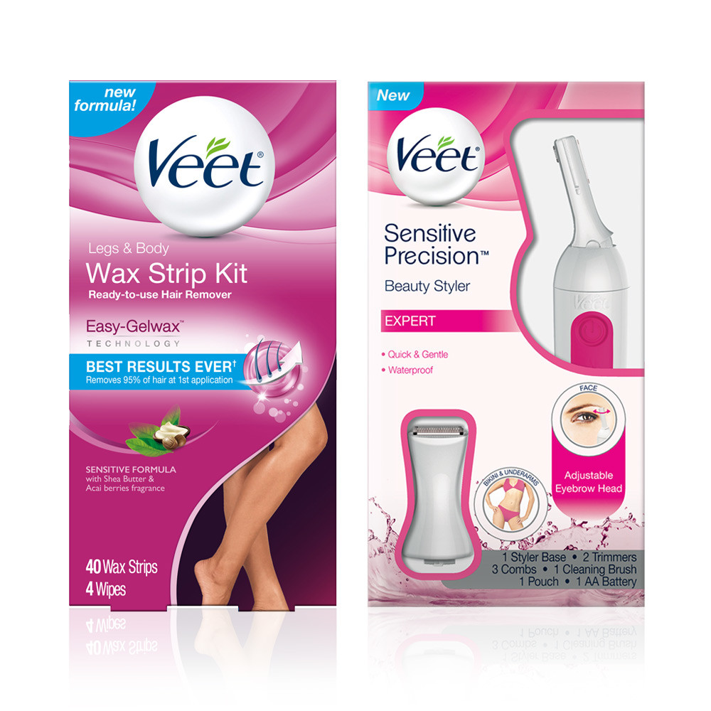 VEET Hair Remover Kit With Leg & Body Cold Wax Strips