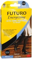 FUTURO Energizing Ultra Sheer Pantyhose For Women French Cut Lace Panty Mild Medium Black 1 Pair [051131201293]