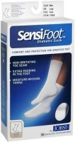 JOBST SensiFoot Crew Socks White Large 1 Pair [035664108380]