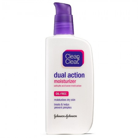 CLEAN & CLEAR Dual Action Oil-Free Moisturizer 4 oz [381370035725]