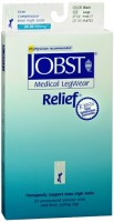 JOBST Medical LegWear Knee High 20-30 mmHg Firm Compression Large Black Close-Toe 1 Pair [035664147327]