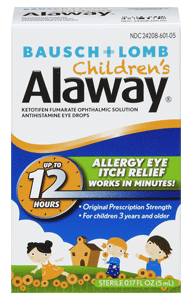 Bausch + Lomb Alaway Ophthalmic Solution Eye Drops for Children 0.17 oz [310119601051]