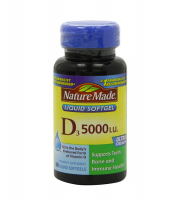 Nature Made Vitamin D3 5000 IU Liquid Softgels 90 ea [031604026219]