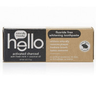 Hello Oral Care Activated Charcoal Fluoride Free Whitening Toothpaste 4  oz [819156020035]