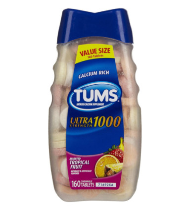 TUMS Ultra 1000 Tablets, Tropical Fruit 160 ea [307660748021]