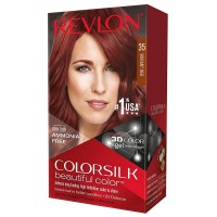 Revlon ColorSilk Beautiful Color Permanent Hair Color, Vibrant Red [35] 1 ea [309978456353]