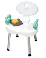 Carex EZ Bath Shower Seat With Handles, 1 ea [023601026606]