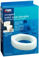 Carex Toilet Seat Elevator Elongated [B306-00] 1 Each [023601130617]