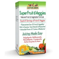 Country Farms  Super Fruits & Veggies Capsules 60  ea [035046090685]