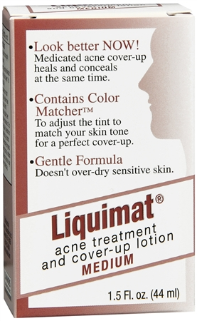 Liquimat Acne Treatment and Cover-Up Lotion Medium 1.50 oz (Pack of 3) BEAUTY TREATS Lip Scrub Display Case Set 36 Pieces