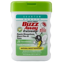 Quantum Buzz Away Extreme Natural Insect Repellent Towelettes 25 ea [046985016575]