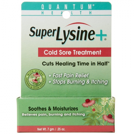Quantum Super Lysine Plus + Cold Sore Treatment 0.25 oz [046985001014]