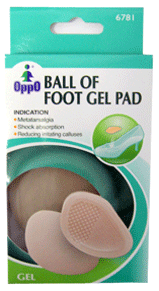 Oppo Gel Ball of Foot Pads [6781] 1 Pair [4711769147733]