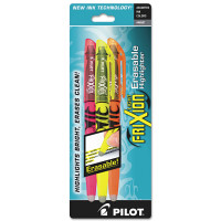 Pilot FriXion Light Erasable Chisel Tip Highlighter, Assorted Colors 3 ea [072838465078]
