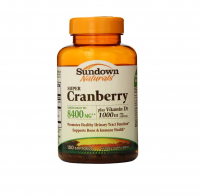 Sundown Naturals Super Cranberry 8400 mg Plus Vitamin D3 1000 IU Softgels 150 ea [030768326760]