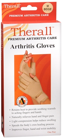 Therall Arthritis Gloves M Beige 1 Pair [719869559351]