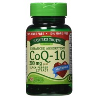 Nature's Truth Enhanced Absorption CoQ10 200 mg Softgels 50  ea [840093101037]