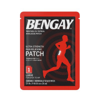 BENGAY Ultra Strength Pain Relief Patch for Muscle Pain On-the-Go, Large 3.9 x 7.9 inches,  1 ea [074300081656]