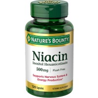 Nature's Bounty Niacin 500 mg capsules 120 ea [074312019760]