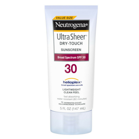 Neutrogena  Ultra Sheer Dry-Touch Water Resistant and Non-Greasy Sunscreen Lotion with Broad Spectrum SPF 30, 5 oz [086800100430]