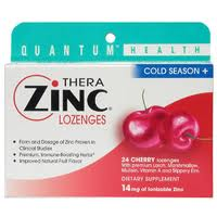 Quantum Health Thera Zinc Cold Season+ Lozenges Cherry 24 Each [046985016018]