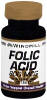 Windmill Folic Acid 800 mcg Tablets 100 Tablets [035046002732]