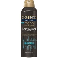 Gold Bond Ultimate Men's Essentials Body Powder Spray, Nightfall Scent 7 oz [041167049013]