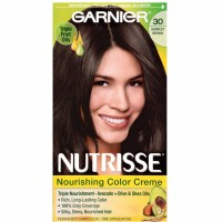 Garnier Nutrisse Nourishing Hair Color Creme, 30 Darkest Brown 1 ea [603084244409]