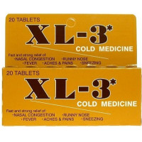 Xtra XL-3 Cold Medicine Tablets 20 ea [645981000214]