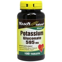 Mason Natural Potassium Gluconate 595 mg Tablets 100 ea [311845061812]