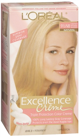 L'Oreal Excellence Creme - 9-1/2NB Lightest Natural Blonde (Natural) 1 Each [071249210796]