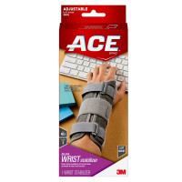 Ace Deluxe Left Wrist Stabilizer Adjustable Brace,Gray 1 ea [051131193970]