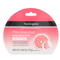 Neutrogena Pink Grapefruit Peel-Off Face Mask for Acne Prone Skin Grapefruit Extract, Non-Comedogenic & Oil-Free, Single-Use 0.35  oz [070501100592]