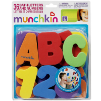 Munchkin Bath Letters & Numbers Bath Toys 1 ea [735282110207]