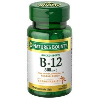 Nature's Bounty Vitamin B-12 500 mcg, 100 ea [074312035951]