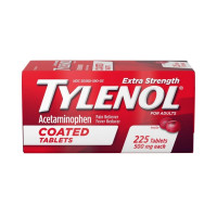 Tylenol Extra Strength Acetaminophen Adult Pain Relief & Fever Reducer Coated Tablets, 225 ea  [300450499233]